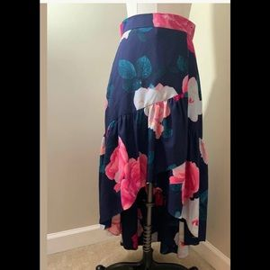 ELIZA Floral High/Low Skirt (size 8)NEW